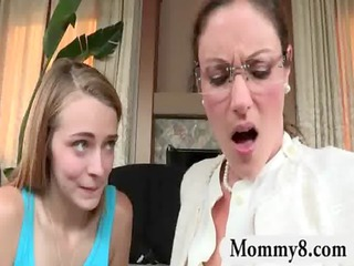 angry mother i stepmom receives a facial cumshot