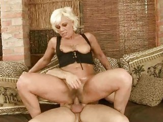 sexy granny acquires her curly vagina drilled hard