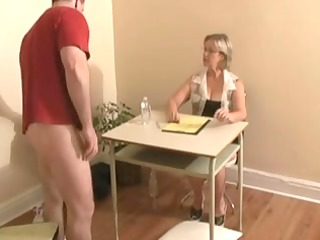 cook jerking ends with cumshot by big tittied
