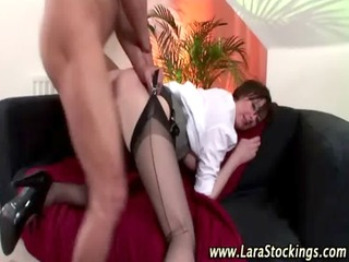 british aged nylons hoe receives a ejaculation