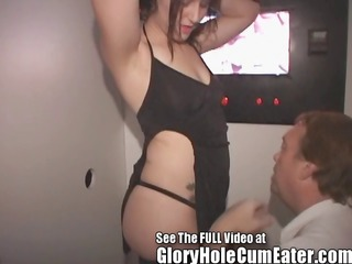 lil miss freaky cum whore gets gloryhole tag