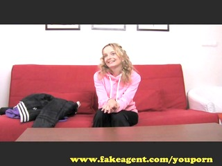fakeagent fitness babe craves sex workout