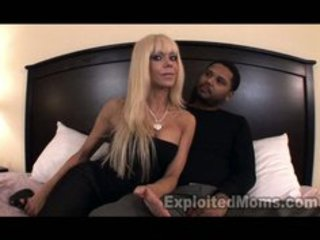 Hot blonde mom with big tits gets pounded by