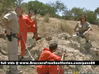 wicked redhead cop takes care of some prisoners