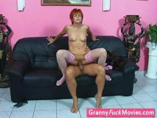 grandmother in nylons acquires screwed