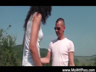 wicked brunette hair mother i blows boner outdoor
