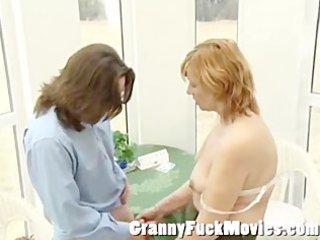older housewife meets a precious boy