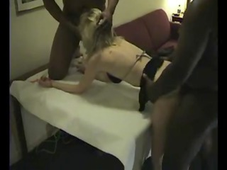 lovely holly in hot heels gets a bbc team fuck