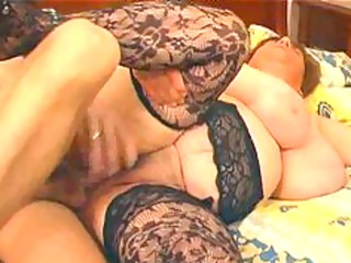 large busty in lace nylons fucks bbw fat bbbw
