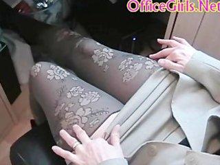 Big tits chubby british milf secretary in