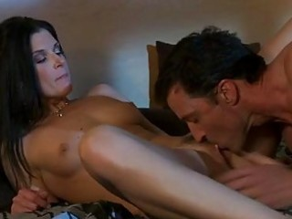 black haired mother i in red hawt underware does