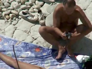 mommy and daddy fuck on a public beach