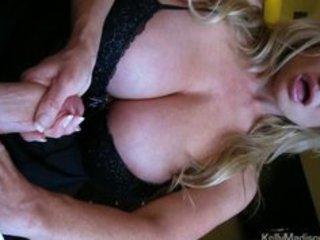 mega titted wife giving a hawt handjob