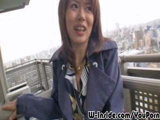 outdoors japanese blowjob