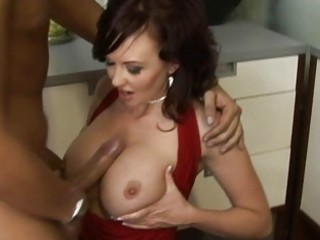 horny breasty brunette mother i doing blowjob and