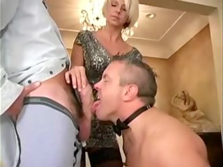 spouse-thrall is sucking a friend of his wife