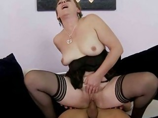 hawt granny receives fucked hard by young stud