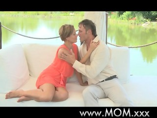 mommy glamorous aged woman orgasms outdoors