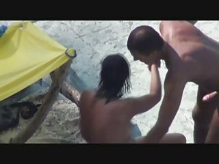 sexy mama enjoys threesome on the beach