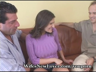 wife shows wimpy hubby her fresh paramour