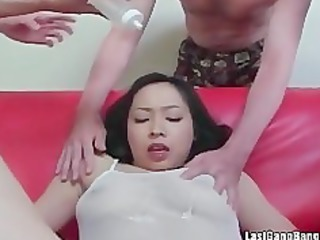 oriental aged floozy gang gangbang oral joy