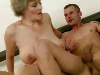 granny enjoys wonderful fucking with youthful guy