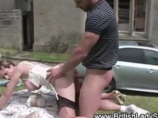 horny british aged whore acquires a spunk fountain