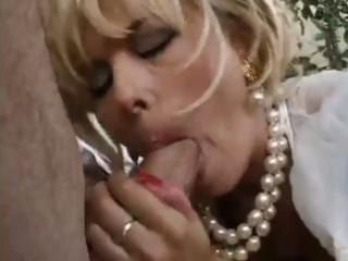 blonde milf craves younger penis so blows this