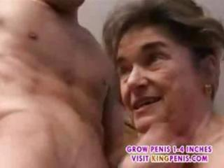 ancient hirsute granny in stockings fingered suck