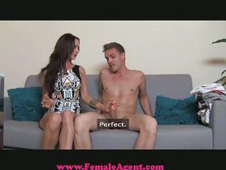 femaleagent - milf exploits shy chap in casting