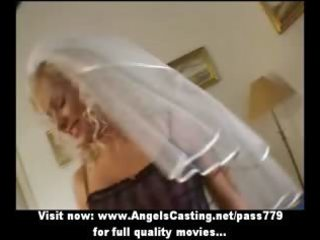 hot golden-haired d like to fuck as bride does