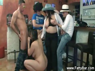 Super horny bbw party