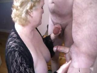 good granny with two men