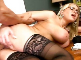 breasty blonde mother i in glasses receive a dick