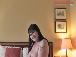 filthy british wife ding-dong and cum covered