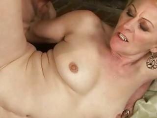granny enjoys nasty sex with a boy