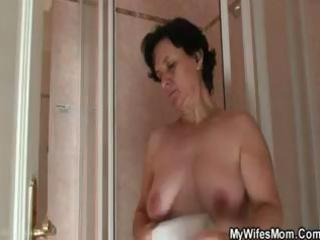 wife going wild when finds him fucking her mamma