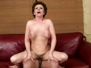 busty grandma fucking with her youthful lover