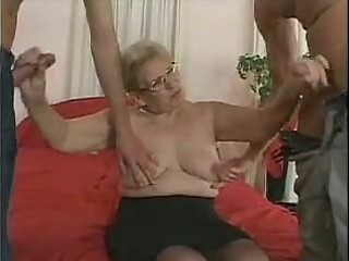 aged in glasses and nylons