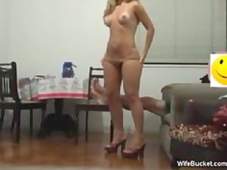 blonde wife riding the dick