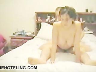 woman screams as she is receives screwed