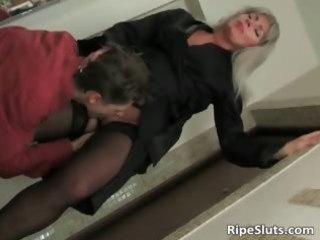 blonde mom dressed in hot underware part7