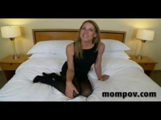 aged blonde housewife gives him a blowjob, tugjob