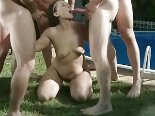 granny in extraordinary pissing and blowjob action