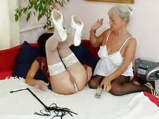 curly granny licks sexy mother i in lesbian act