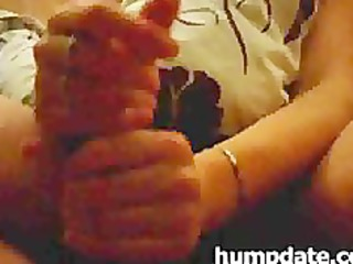 spouse receives good handjob by his shy wife