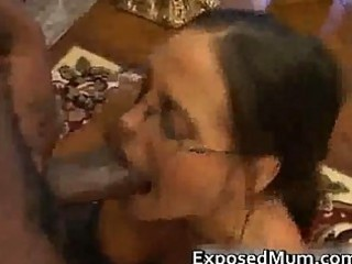 hot mother i in glasses deepthroating black