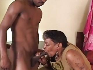black granny likes the juvenile cock