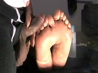 wifes slothful feet jack off massive oozy load!!!