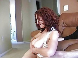 teasing redhead mother i with glasses and biggest